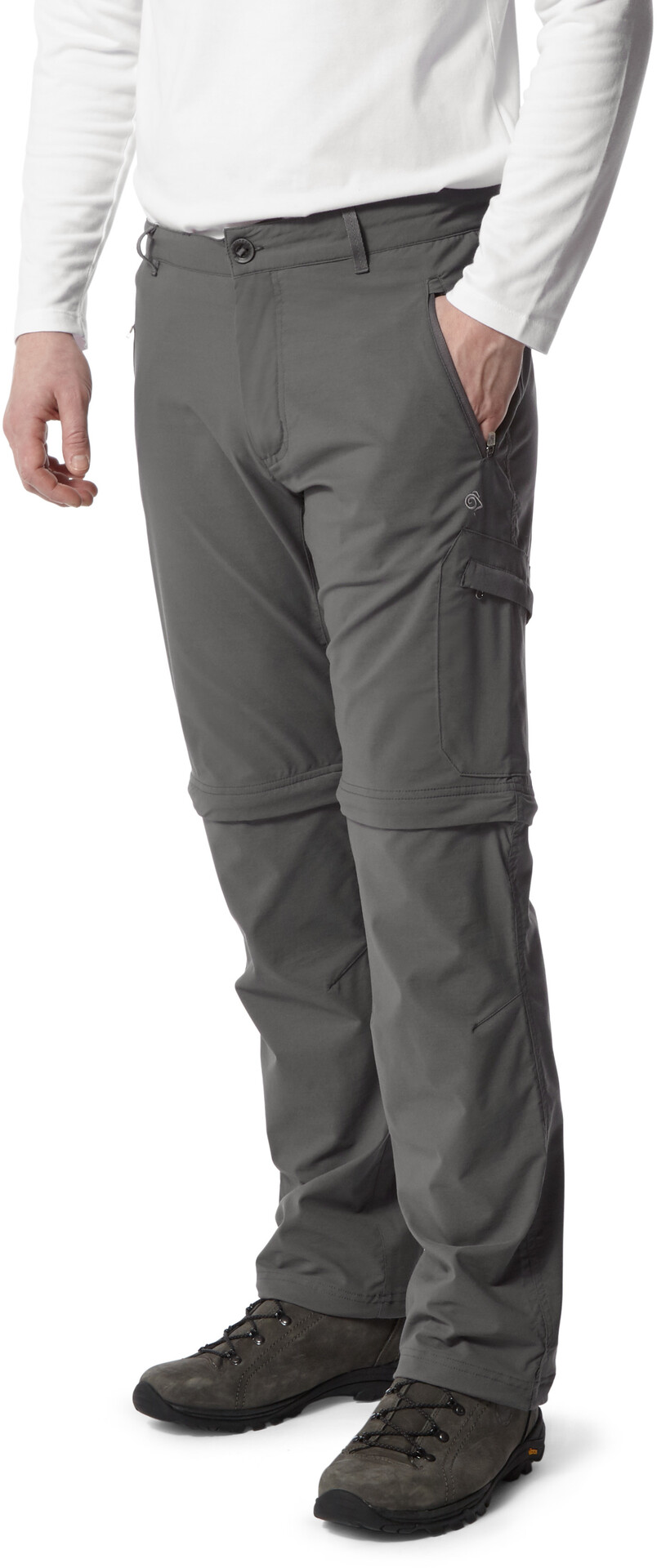 Craghoppers NosiLife Pro Pantalon convertible Homme, elephant